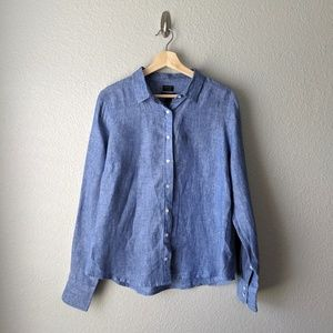 J. Crew Baird McNutt Irish Linen Button Down Shirt